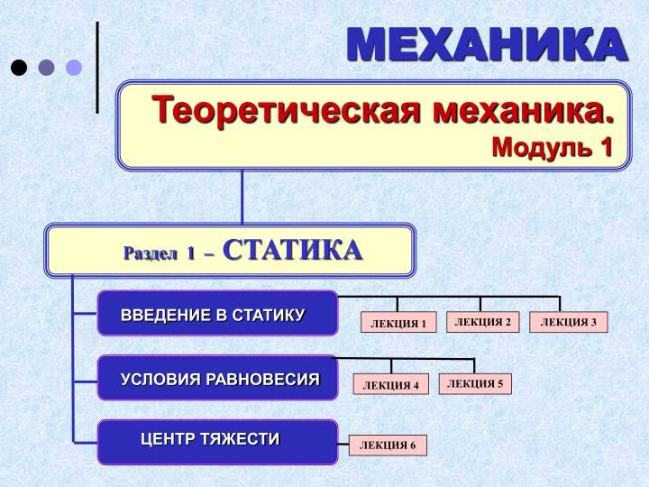 Теоретическая механика.
