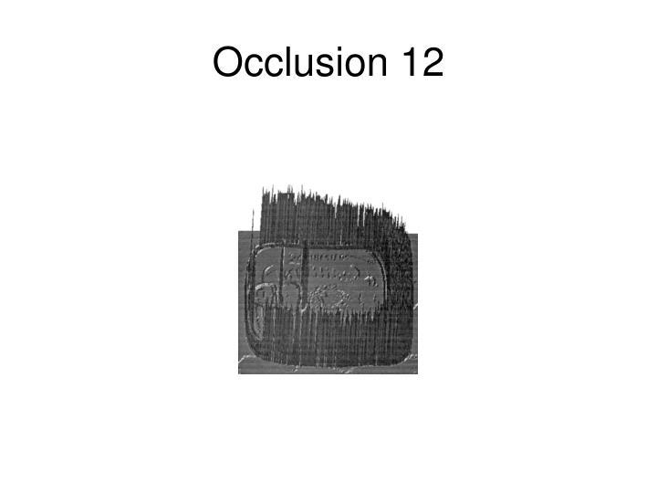 Occlusion 12