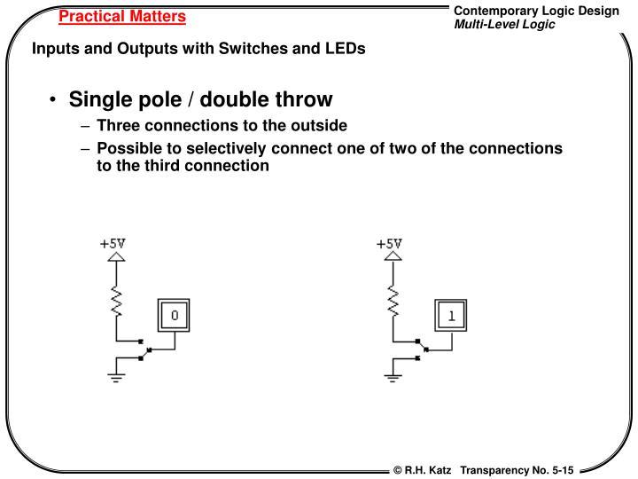 Single pole / double throw
