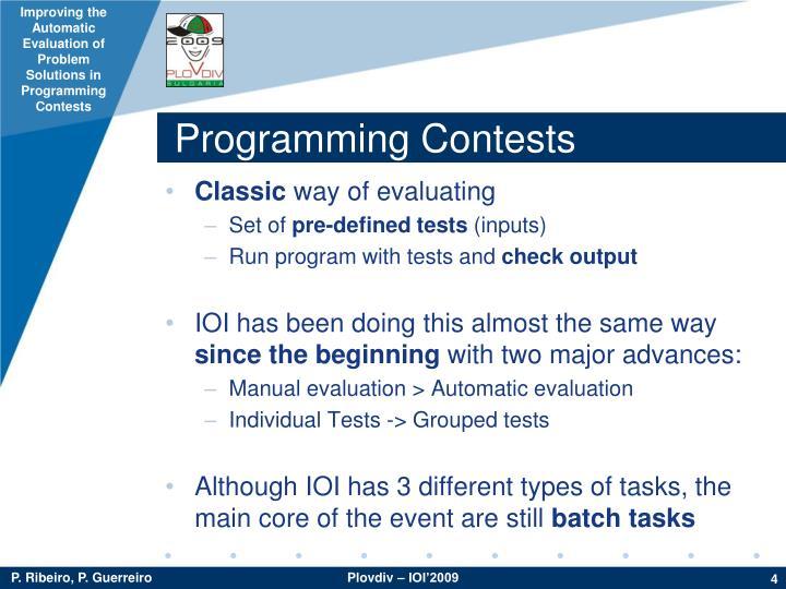 Programming Contests