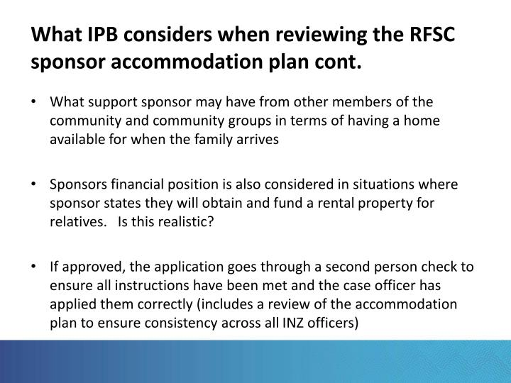 What IPB considers when reviewing the