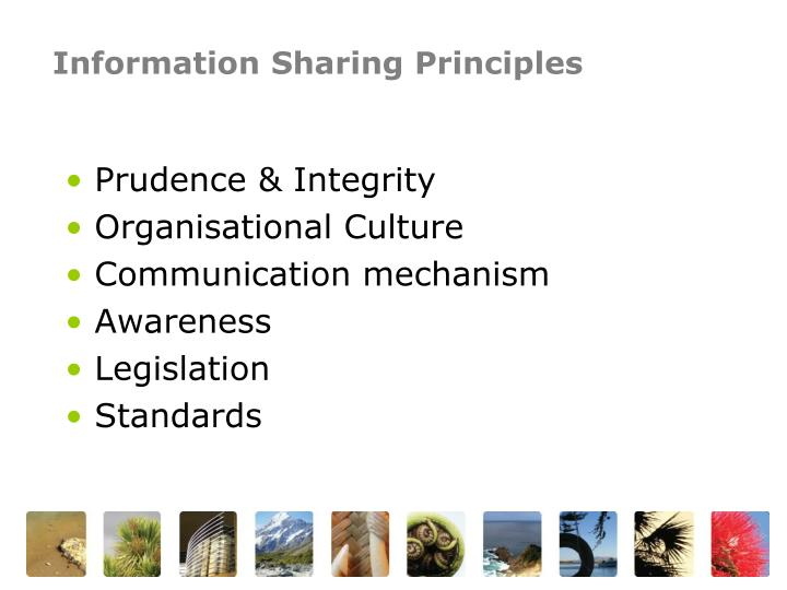 Information Sharing Principles