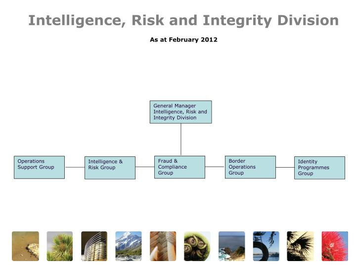 Intelligence, Risk and Integrity Division