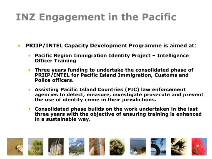 INZ Engagement in the Pacific