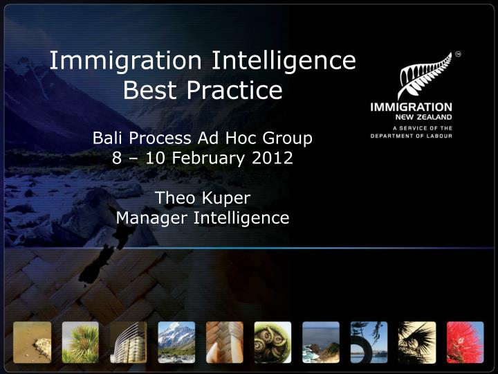 Immigration Intelligence Best Practice