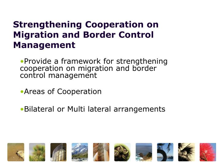 Strengthening Cooperation on Migration and Border Control Management
