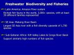 freshwater biodiversity and fisheries