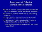 importance of fisheries to developing countries1