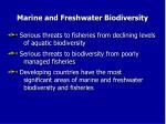 marine and freshwater biodiversity