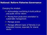 national reform fisheries governance