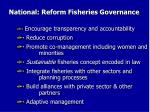 national reform fisheries governance1