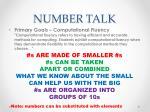 number talk1