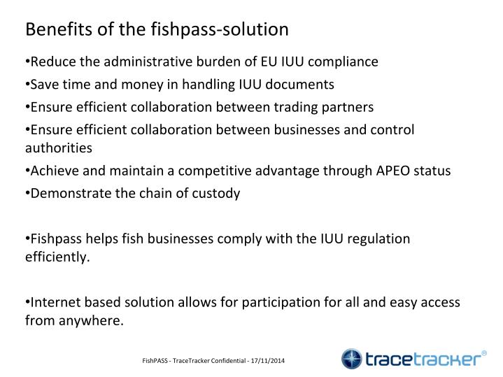 Benefits of the fishpass-solution