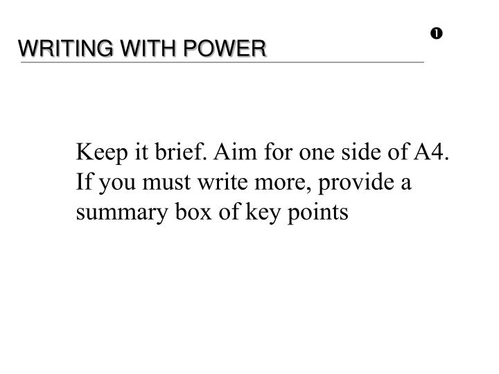 WRITING WITH POWER