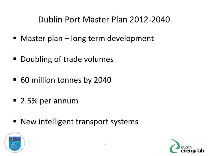 Dublin Port Master Plan 2012-2040