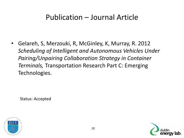 Publication – Journal Article