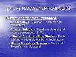 fishery management councils1