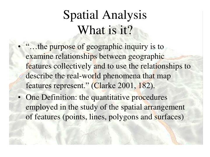 spatial analysis what is it n.