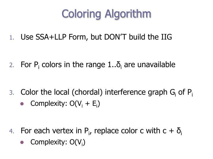 Coloring Algorithm