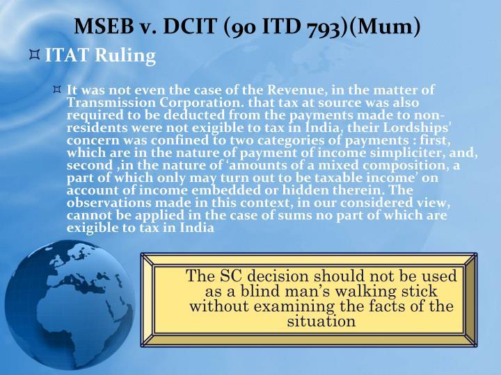 MSEB v. DCIT (90 ITD 793)(Mum)