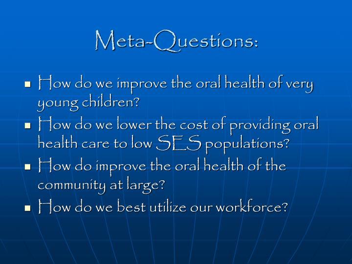 Meta-Questions: