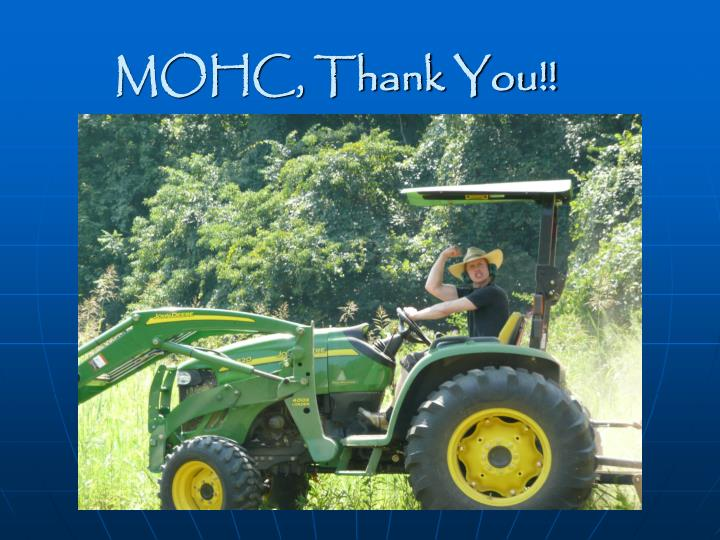 MOHC, Thank You!!