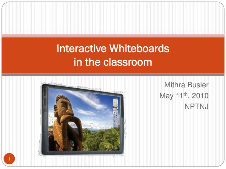 interactive whiteboards in the classroom n.
