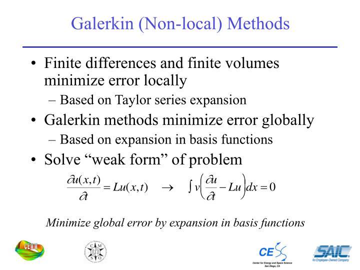 Galerkin (Non-local) Methods