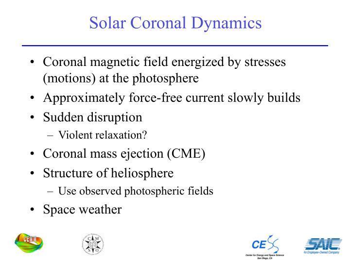 Solar Coronal Dynamics
