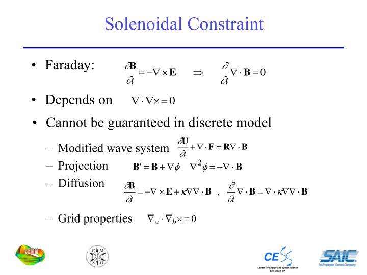 Solenoidal Constraint