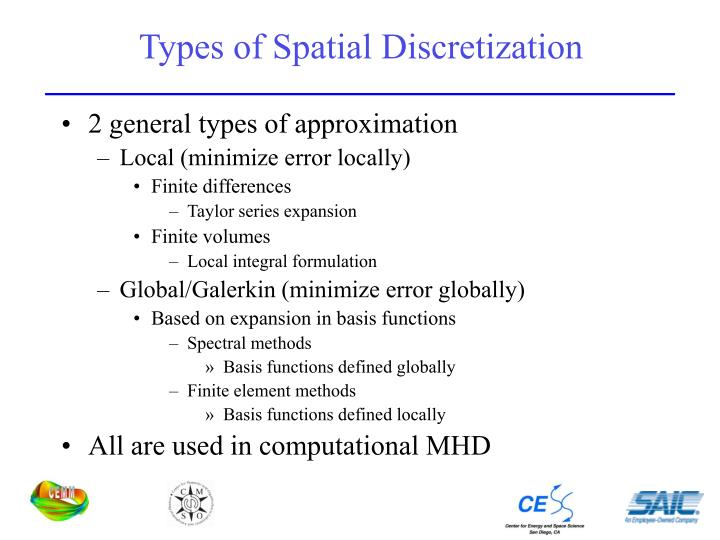 Types of Spatial Discretization