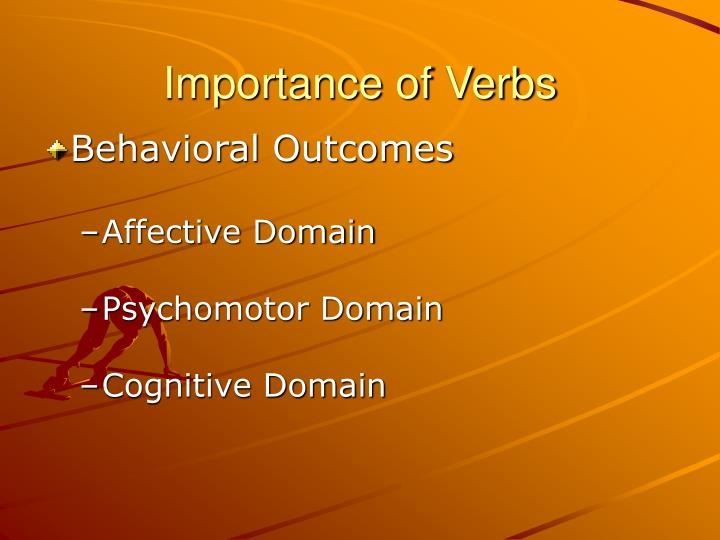 Importance of Verbs