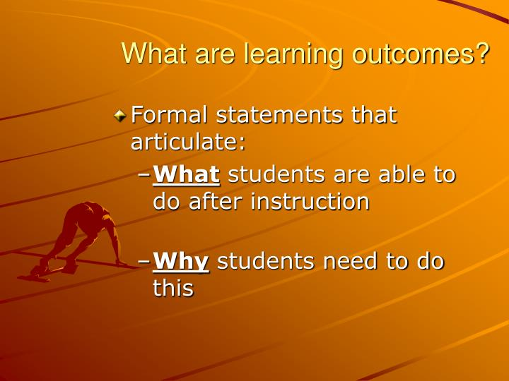 What are learning outcomes