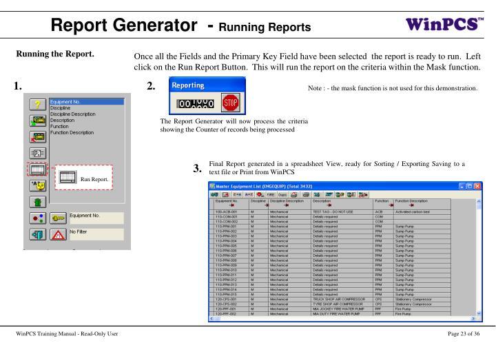 Run Report.