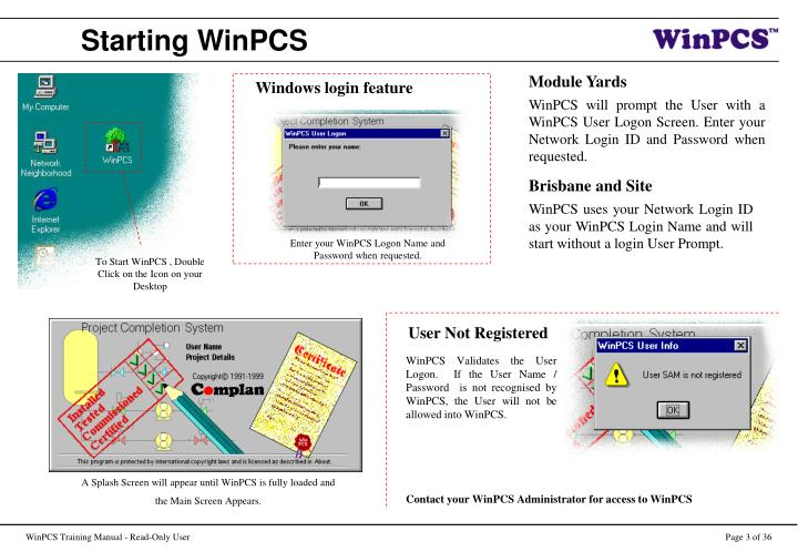 Starting winpcs