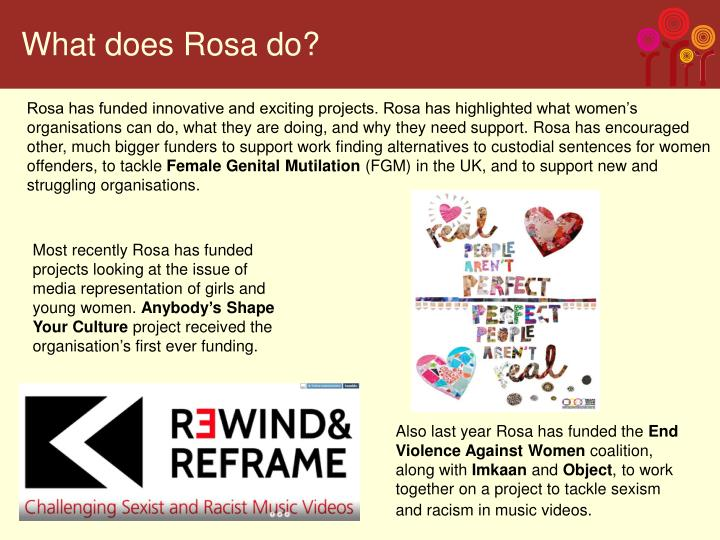 What does Rosa do?