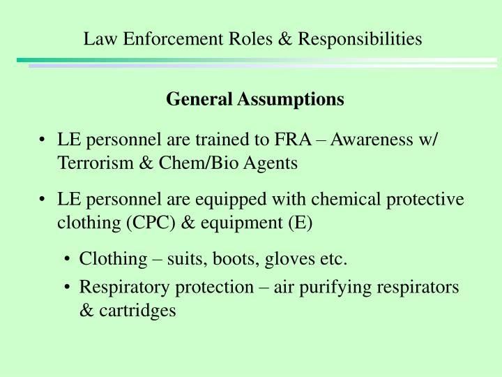 Law enforcement roles responsibilities