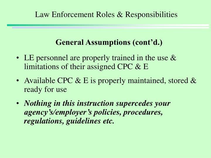 Law enforcement roles responsibilities1
