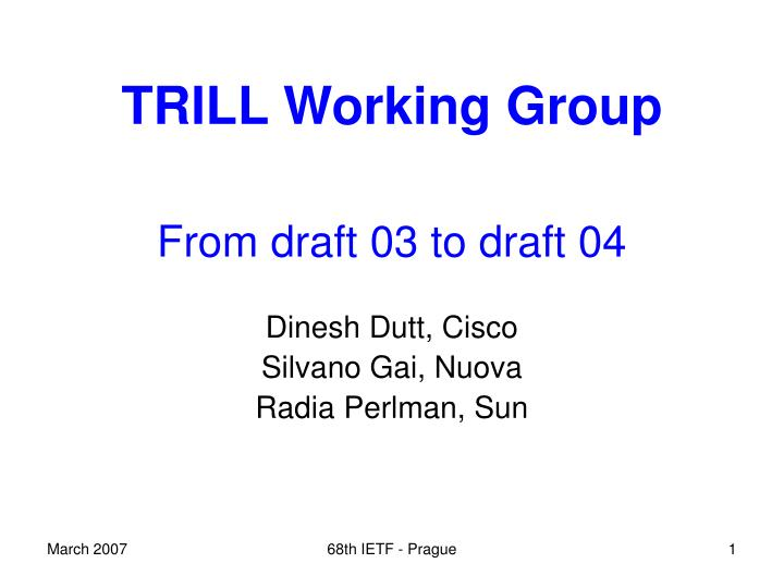 trill working group n.