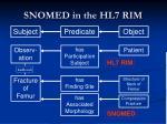 snomed in the hl7 rim