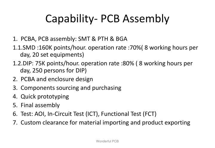 Capability- PCB Assembly
