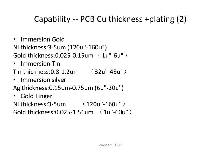 Capability -- PCB Cu thickness +plating (2)