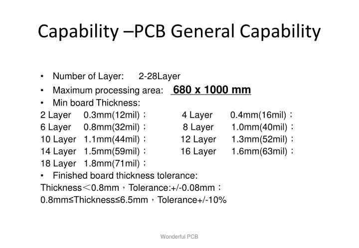 Capability pcb general capability