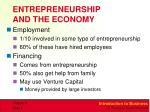 entrepreneurship and the economy