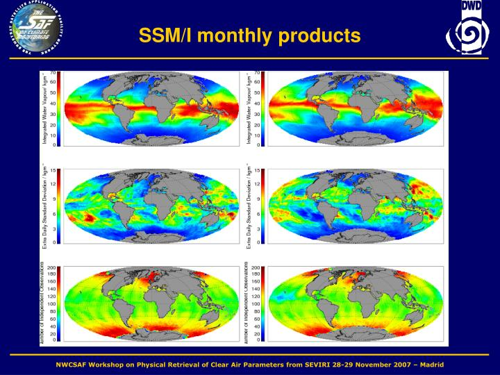 SSM/I monthly products