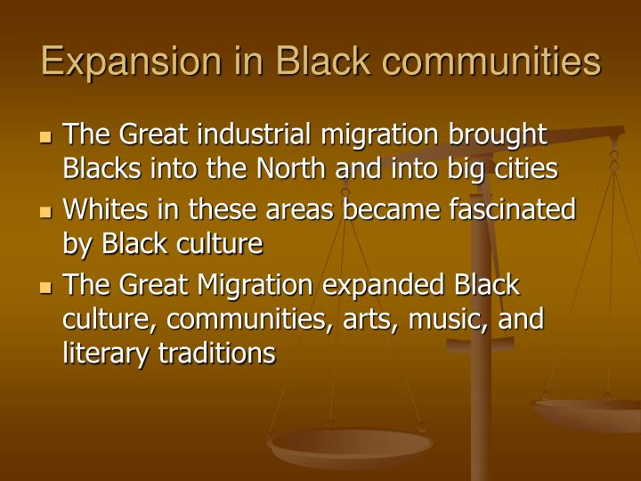 Expansion in Black communities