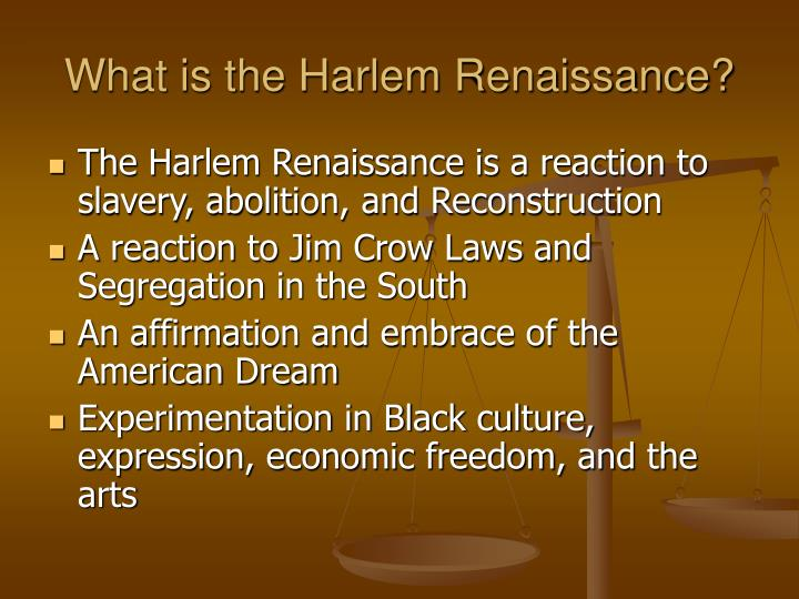 What is the Harlem Renaissance?