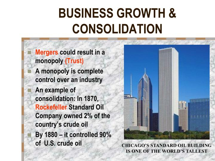 BUSINESS GROWTH & CONSOLIDATION