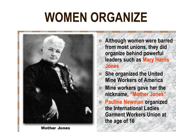 WOMEN ORGANIZE