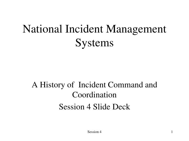national incident management systems n.